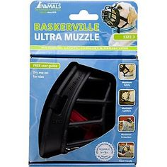 The Company of Animals Baskerville Ultra Muzzle for Dogs Size 3 4.5' L X 3.5' W X 4.75' H *** Additional details at the pin image, click it  : Dog muzzle