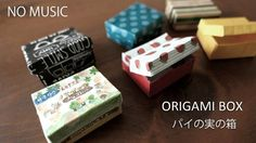 NO MUSIC★おりがみ1枚でパイの実の箱の作り方。smallbox with a lid.【origami tutorial】折り紙工作 - YouTube