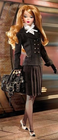 silkstone Barbie in black