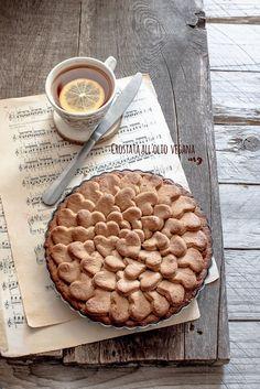 Crostata vegana all'olio Tortillas Veganas, Vegan Life, Coffee Cake, Apple Pie, Gluten Free Recipes, Italian Recipes, Waffles, Food And Drink, Bread