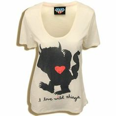 Junk Food Where the Wild Things Are - Heart - I Love Wild ThingsT shirt. Love the super cute simple iconic character, really easily recognizeable! Iconic Characters, Classy Casual, Boy Birthday, First Birthdays, Casual Outfits, Super Cute, T Shirts For Women, My Love, My Style