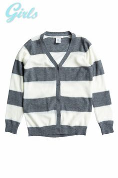 STRIPED SWEATER CARDIGAN MST1549-CHACOAL – Chelsea Apparel