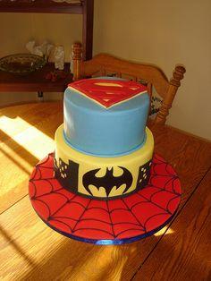 Spider-Man cake board possibly, June cake