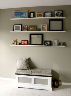 DIY Floating Photo Shelves Tutorial - Great weekend project! by Turtles and Tails