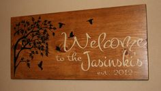 Welcome sign - Family Established Sign. $58.00, via Etsy.