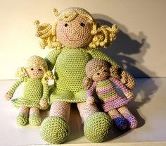 Crochet pattern: 2 dolls, mother and child!
