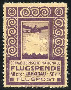 Switzerland  - Part collection 6 flight forerunner I, III, Va, VI, VII and XI, mint never hinged **, very fine, 4 attested, SBK 4000.-