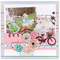 The bike is my favorite part! Fabric flowers are also super cute.