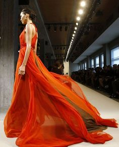 Bottega Veneta Milan Fashion Week 2012. BURNT ORANGE!!  Not that I have ANYWHERE to wear something like this but I can always dream.