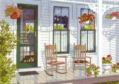 Albert's Porch | Joy Laking Gallery  ( serigraph )