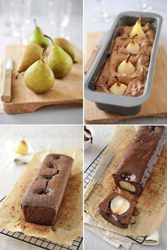 Gâteau poire chocolat Fall Appetizers, Appetizer Recipes, Köstliche Desserts, Chocolate Desserts, Cake Chocolate, Cake Recipes, Dessert Recipes, Pear Cake, Healthy Cake
