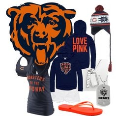 """Chicago Bears Chik"" by kaitlyn-nicolee on Polyvore"