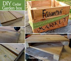 Build your own Garden Box - It's super easy and perfect for harvesting season.
