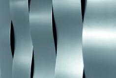 Radiador decorativo de pared en acero RIVER by CALEIDO by Co. Ge. Fin diseño James di Marco