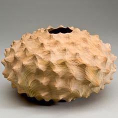 Medium Carved Cedar Bowl