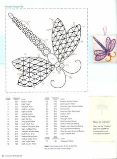 Dragonfly Pattern #2 • there is also a small picture of the finished product.