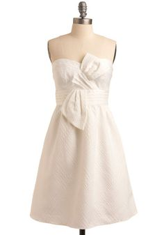 Perfect for the bride-to-be's bridal shower. Chilly? Add on a pop of color wrap.