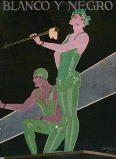 Las ilustraciones de Rafael de Penagos se publicaban en  revistas graficas.
