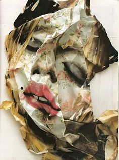 """moldavia: """" """"My interest in art began by copying the painters of the Renaissance found in a book my mother gave me,"""" says Rupert Shrives. Shrives calls his work Post-Paintings which are reproductions. Action Painting, Face Collage, Collage Drawing, Collage Art, Nyc Art, Photocollage, Gcse Art, Photo Manipulation, Art Music"""