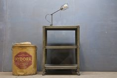 Vintage Industrial Autohaus Steel Table : Factory 20