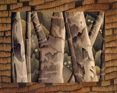 """Julia Mitchell """"Tree Trunks"""" tapestry"""