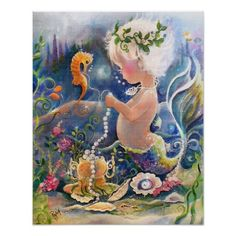 Shop Baby Mermaid Poster created by Creechers. Fantasy Mermaids, Real Mermaids, Mermaids And Mermen, Fantasy Creatures, Mythical Creatures, Sea Creatures, Mermaid Cove, Mermaid Fairy, Mermaid Poster