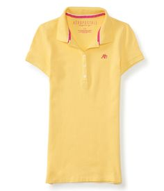 Aéropostale Camisa Polo Feminina Amarela