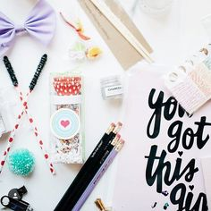 "Sweet shot of last years swag bag from @monarchworkshop with our ""You got this girl"" print. by designsbymaria"