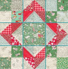 The term Nine Patch refers to the tried-and-true quilt block pattern, but did you know it also refers to an entire category of blocks? Any block that has seams that divide units equally into nine sections falls into the Nine Patch category Quilt Block Patterns, Pattern Blocks, Quilt Blocks, 9 Patch Quilt, Patchwork Quilt, Mini Quilts, Teal Quilt, Half Square Triangle Quilts, Square Quilt