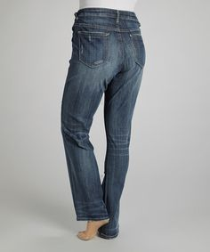 Look what I found on #zulily! Dark Wash Jagger Straight-Leg Jeans - Plus by Vigoss #zulilyfinds