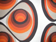 FABRIC original 1960s / retro vintage bold swirls by dutchdetails, €27.00