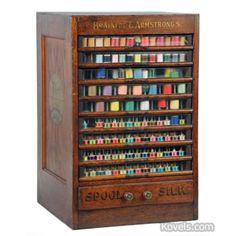 Store spool display cabinet