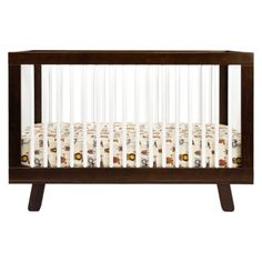 Babyletto Hudson 3-in-1 Convertible Crib With Toddler Rail - Espresso With White