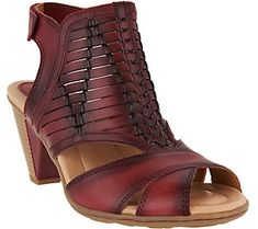 3745fd044455 Earth Leather Peep-toe Sandals - Libra