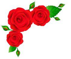 Red Roses Corner Transparent PNG Clip Art Image