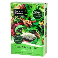 I eat so much salad this is perfect: Lettuce Mix Seed Starter Kit Seed Starter Kit, Growing Lettuce, Grow Your Own, Compost, Seeds, Gardening, Canning, Vegetables, Fingers