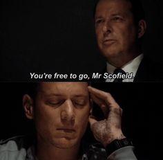 """""""You're free to go, Mr. Scofield"""" - Michael and CIA Director #PrisonBreak"""