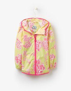 Jnrskye Lime Peony Waterproof Pack Away Jacket   Joules UK