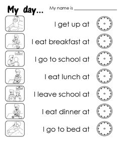ENGLISH CORNER FOR KIDS: My day (Daily routines)