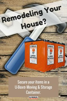 Home renovations can be a long process, but U-Box Moving and Storage Containers are here to help. Rent a U-Box Container for as long as you need to make sure your items are secure and safe. You can pick one up from a U-Haul center or have one delivered. Moving Storage Containers, Moving And Storage, Self Storage, Organizing Your Home, Pick One, Household Items, Organization Hacks, Decorating Your Home, Home Remodeling