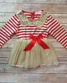 Bambin or rouge bébé fille robe, fille de costume d'anniversaire, Baby Girl Toddler Noël Outfit robe, robe Vintage, Toddler Valentine Outfit