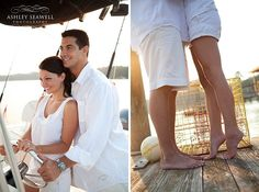 Engagement Session on boat