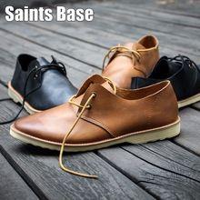 2016 Printemps Hommes casual chaussures en cuir chaussures rétro style Britannique bois outillage pour aider à marée basse chaussures dentelle chaussures livraison gratuite(China (Mainland))