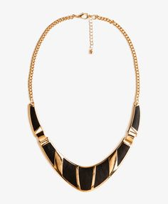 Faux Leather Panel Bib Necklace | FOREVER 21 - 1046387802