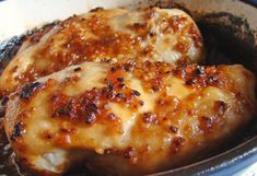 Cheesy Garlic Baked Chicken ( I would use Parmesan chicken)