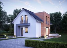 Bungalow Exterior, Exterior House Colors, New House Plans, Modern House Plans, Bungalow Extensions, House Architecture Styles, Main Gate Design, House With Porch, Sims House
