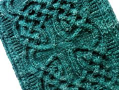 Beautiful free celtic pattern knitted cowl with info on also creating a scarf or anything else with this pattern. So gorgeous!!