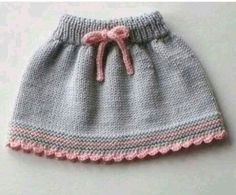 Bebek elbise modelleri Informations About Baby skirt knitted baby skirt merino wool skirt grey and pink skirt MADE TO ORDER … Knitting For Kids, Baby Knitting Patterns, Baby Patterns, Hand Knitting, Vogue Knitting, Baby Girl Skirts, Baby Skirt, Ski Girl, Knit Baby Dress