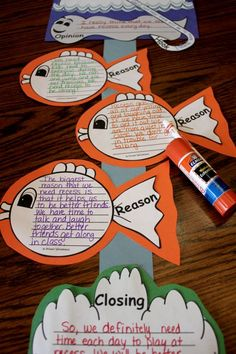 """Any topic of Persuasive Writing will look great on this fish themed template! From the """"hook"""" to the closing, the layout keeps all parts of a writer's workshop piece organized!"""