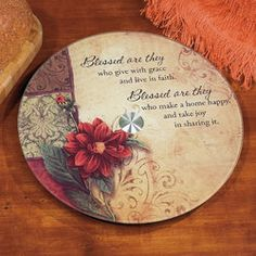 """Blessed Are They"" Lazy Susan"